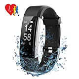 Mpow Fitness Armband mit Pulsmesser,Wasserdicht IP67 Smartwatch Fitness Uhr Pulsuhren Fitness Tracker Aktivitätstracker Schrittzähler Uhr für Damen Herren Anruf SMS Beachten für iPhone Android Handy