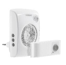 Honeywell D3010S EVO+ Funkgong Plug-In Gong für die Steckdose inkl. Blitzlicht